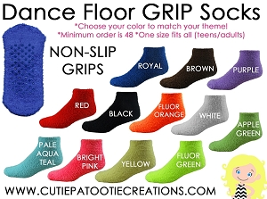 Dance Floor Grippy Socks for Bar and Bat Mitzvah, Wedding, Sweet 16 - SOLD IN SETS OF 48