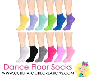 Dance Floor Party Socks - Pastel Solid Colors