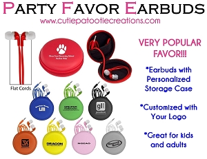 Earbuds in Custom Personalized Case with Your Logo  - MINIMUM 75