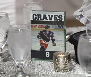 Hockey Player Table Number Cards - We can do any Sport - Any Player