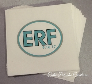 Personalized White Napkins with Full Color Monogram Logo
