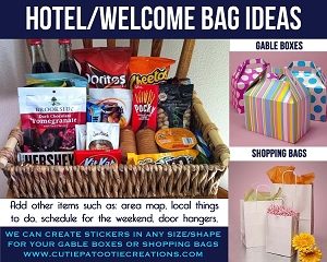 Hotel Welcome Bag Ideas for Mitzvahs, Weddings and Sweet 16's