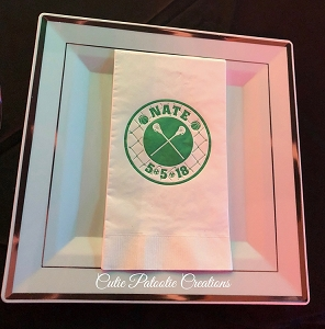Personalized Guest Towel Napkins with Your 1 Color Logo