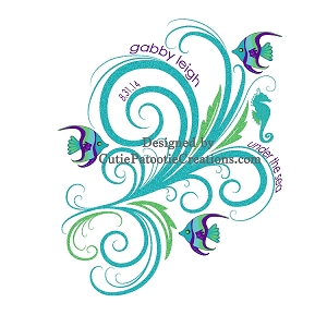Under the Sea Bat Mitzvah Logo - Custom Colors Available