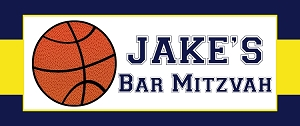 Personalized Basketball Team Vinyl Sign and Banner - Custom for designed for any team