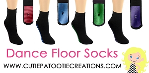 Grippy Grip Dance Floor Party Socks for Bar and Bat Mitzvahs, Weddings and Sweet 16