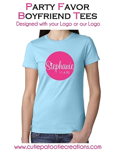 Personalized Boyfriend Tee with your Logo - Low Minimums - CALL FOR PRICING
