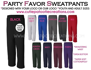 Sweatpant Party Favors for Bar and Bat Mitzvahs - CONTACT US FOR PRICING