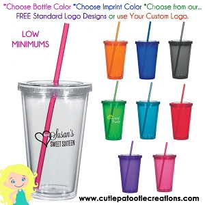 Personalized Tumbler Cup with Logo - MINIMUM 48