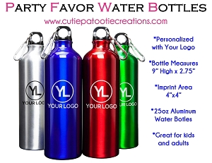Aluminum Water Bottle Personalized with Your Logo - MINIMUM 50