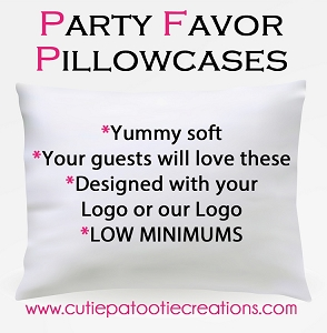 Personalized Pillow Case Party Favor for Bar and Bat Mitzvah, Sweet 16, Wedding and Quinceañera