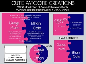 Jigsaw Puzzle B'Nai Mitzvah Invitations - Custom Colors Available