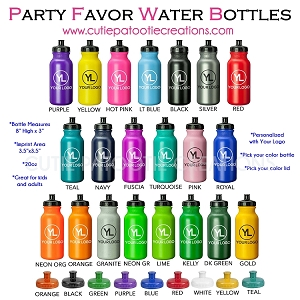 Plastic Water Bottle personalized with Logo - MINIMUM 100
