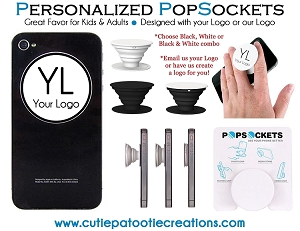 Personalized PopSockets with your 1 COLOR Logo - MINIMUM 100
