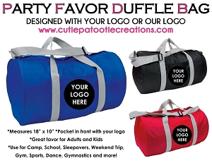 Duffle Bag Party Favor Giveaway for Bar and Bat Mitzvahs - Minimum 50