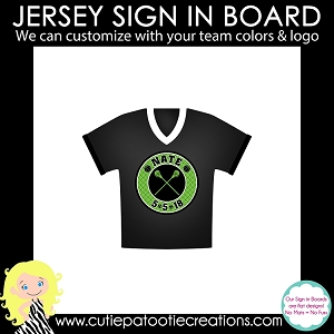 Sports Jersey Bar Mitzvah Sign in Board or Sign in Pillow - Custom Colors Available