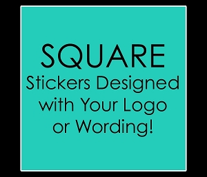 Personalized SQUARE Stickers for Mitzvahs, Weddings, Birthdays, Sweet 16's