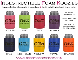 Personalized INDESTRUCTIBLE KOOZIES with Logo - MINIMUM 100