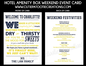 Custom Weekend Event Cards - Choose Your Colors - Add Your Logo