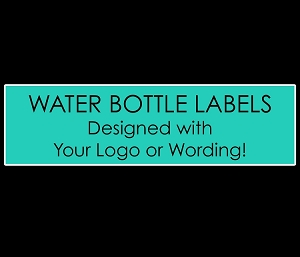 Personalized WATER BOTTLE LABELS for Mitzvahs, Weddings, Birthdays, Sweet 16's
