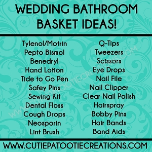 Bathroom Basket Ideas for Weddings