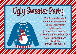 Ugly Sweater Invitations for Kids or Adults - Printable or Printed