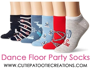 Dance Floor Party Socks - Under the Sea Nautical Theme for Bar and Bat Mitzvahs, Wedding and Sweet 16