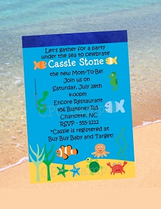 Beach Birthday Party Invitations