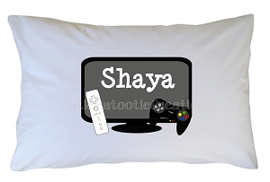Personalized Video Game Pillow Case for Kids, Adults and Toddler