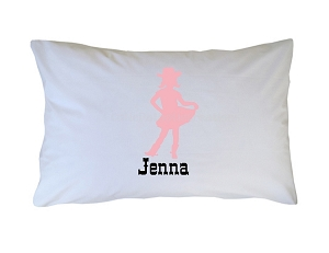 Personalized Vintage Cowgirl Pillow Case for Kids, Adults and Toddler