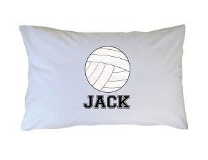 Personalized Volleyball Pillow Case for Kids, Adults and Toddler