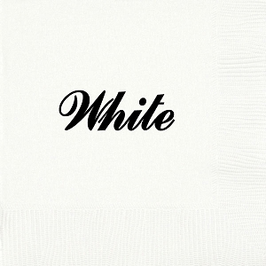 Personalized White Napkins - Beverage, Cocktail, Dinner & Guest Towels