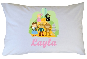 Personalized Wizard of Oz Pillow Case for Kids, Adults and Toddler