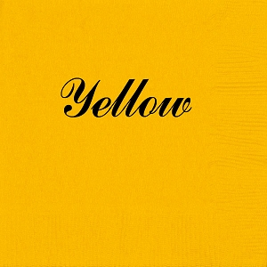 Personalized Yellow Napkins - Beverage, Cocktail, Dinner & Guest Towels