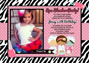 Glamour Girl Birthday Invitations, Printable or Printed