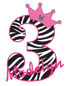 Personalized Zebra Print Birthday T-Shirt or Bodysuit