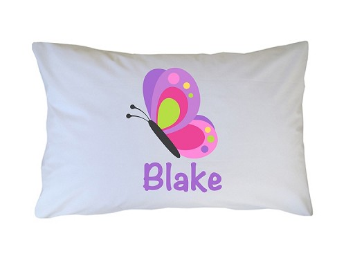 Personalized Butterfly Pillow Case for Kids, Adults and Toddler
