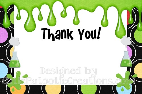 Mad Science Scientist Thank You Cards - Printable or Printed