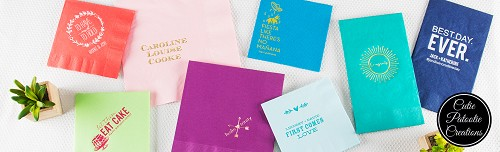 Personalized Napkins for Mitzvahs, Weddings, Sweet 16