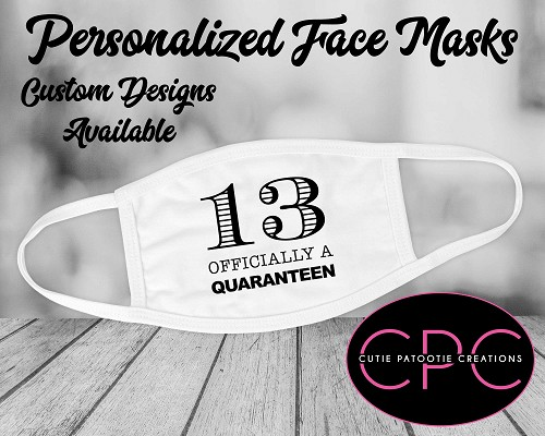 Officially A Quaranteen 13 Face Mask for Mitzvah or Birthday