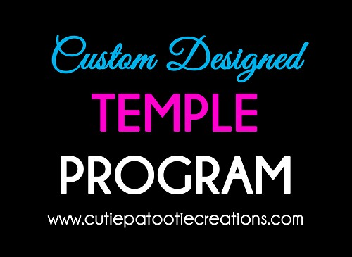 Custom Designed Bar and Bat Mitzvah Temple Service Program