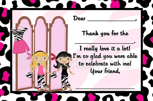 Glamour Girl Thank You Cards