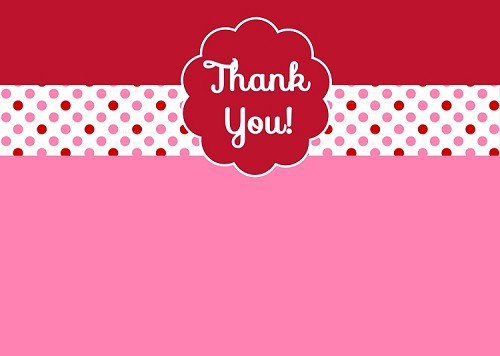 Valentines Day Cards - Thank You Card