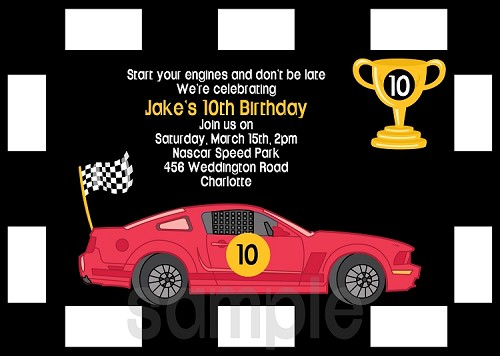 Cars Birthday Invitations for Boy or Girl - Printable or Printed