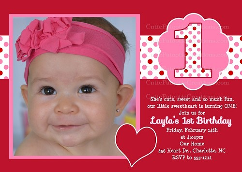 Valentine Birthday Party Invitations Printable or Printed