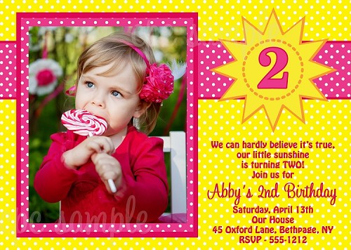 Sunshine Photo Invitations | Tie Dye Birthday Party Invitations - Printable or Printed