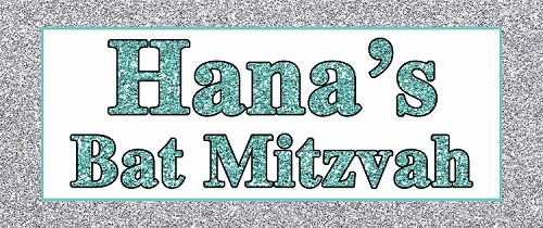 Personalized Tiffany Blue and Silver Glitter PATTERN Candy Buffet Sign