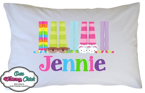 Personalized Pajama Feet Pillow Case for Kids, Adults and Toddler