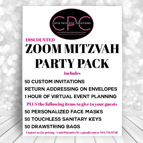 ZOOM MITZVAH Party Pack - READ DESCRIPTION FOR FULL DETAILS