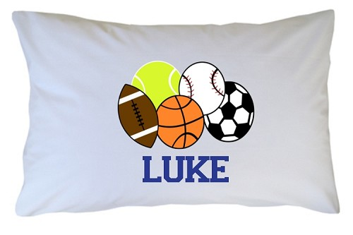 Personalized Sports Pillow Case for Kids, Adults and Toddler